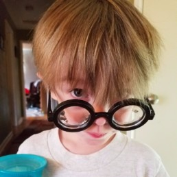 Ryder wearing oversized glasses