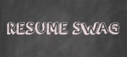 resume swag chalkboard